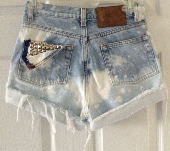 Custom high waisted waist shorts vintage denim by shopbnicole