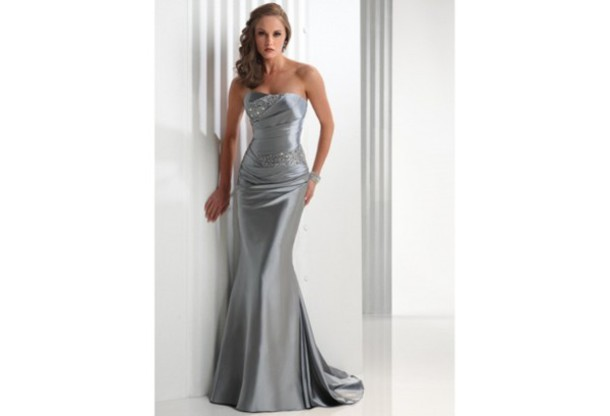 dress, wedding dress, silver grey mother of brides dresses, mother ...