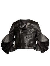 jacket,leather jacket,cropped,leather,black