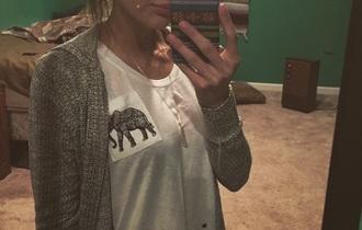 shirt hipster tumblr elephant black white top t-shirt
