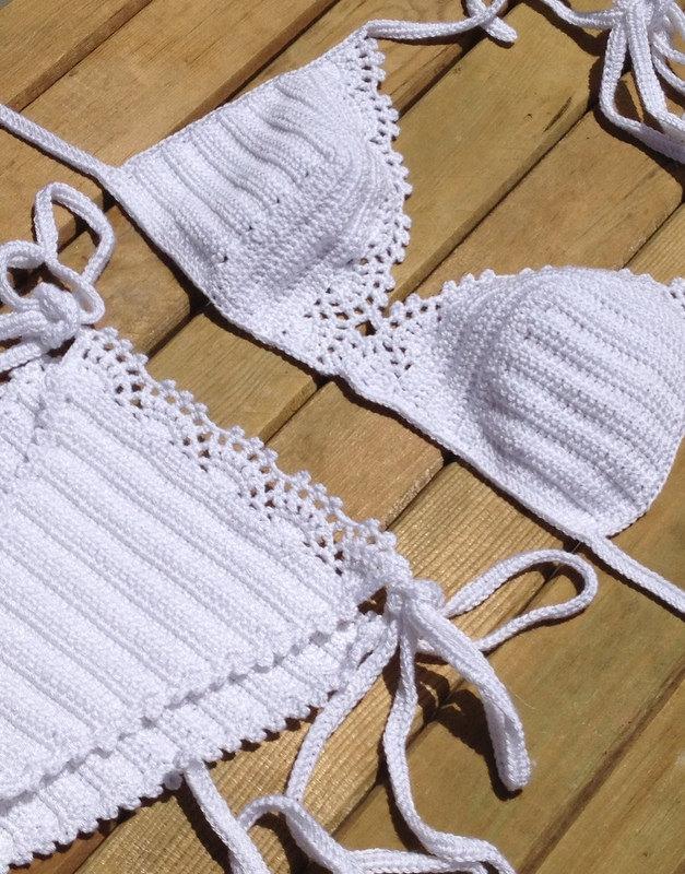 Swimsuit women crochet bikini beachwear summerwear senoaccessory