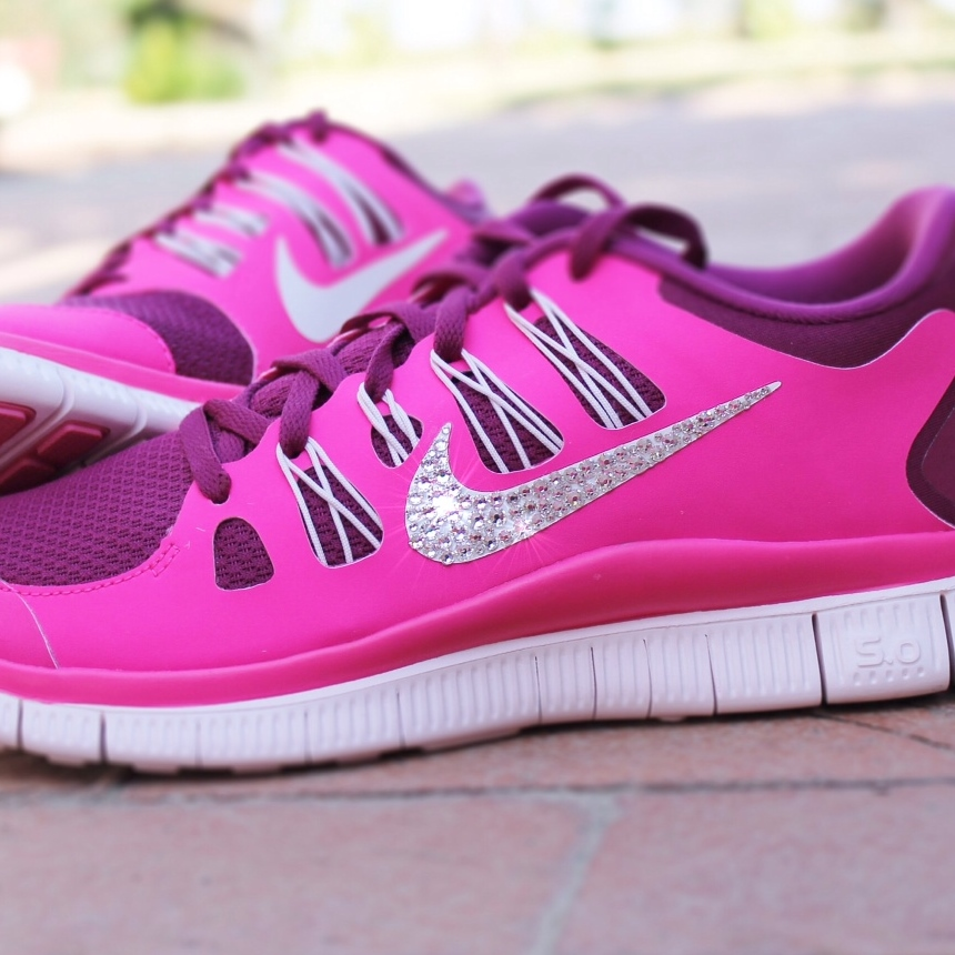 9f809ad0404f New In Box Women s Nike Free Run 5.0+ Running Shoes 580591-406 Customized  With