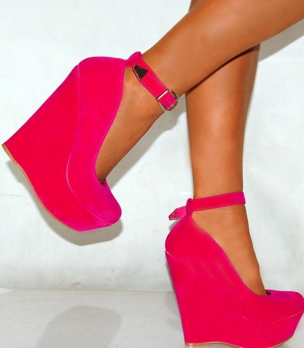 shoes heels red gloves wedges