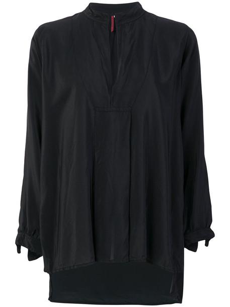 Daniela Gregis blouse women black silk top