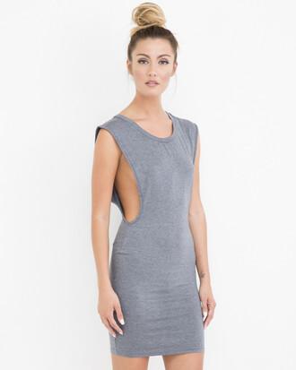 dress grey grey dress cut-out cut-out dress midi midi dress