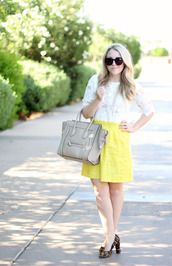 a beautiful heart,top,skirt,shoes,jewels,bag,sunglasses,make-up