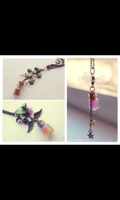jewels,necklace,neon,rainbow,wings,glitter,stars,girly,magic