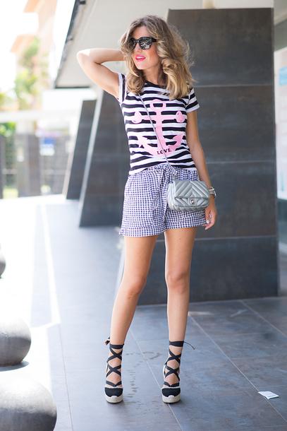 mi aventura con la moda blogger t-shirt shorts bag jewels