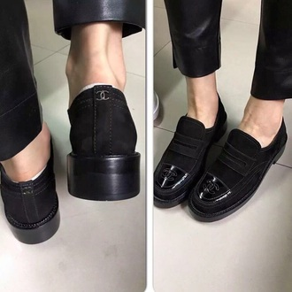 shoes black shoes chanel