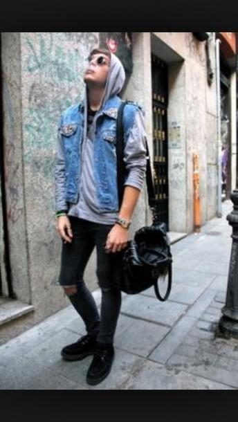 jacket jeans hood