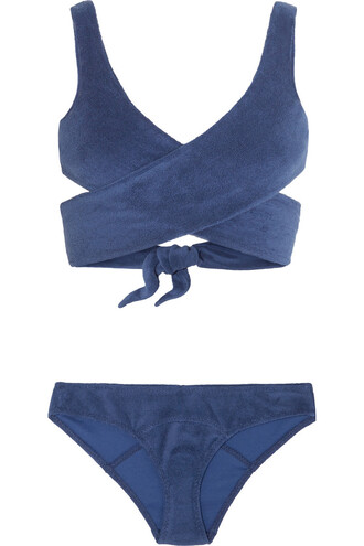 bikini cotton navy swimwear