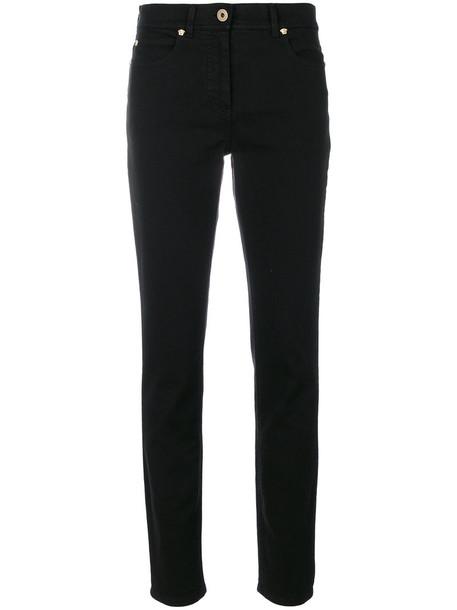 VERSACE jeans women spandex fit cotton black