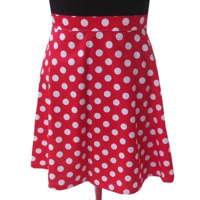 Red and White Polka Dots Hipster Skirt | Elizabeth's Custom Skirts