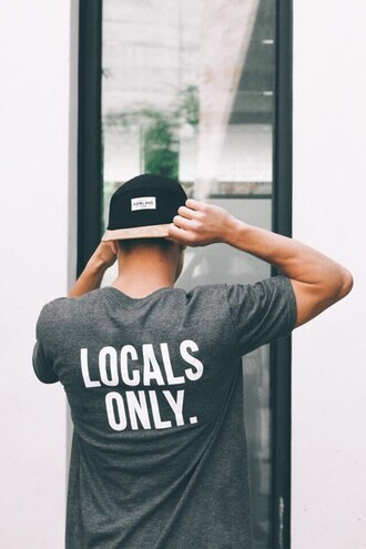 t shirt doc gray grey t-shirt locals only grey and white swayed mens shirt mens t-shirt hipster menswear