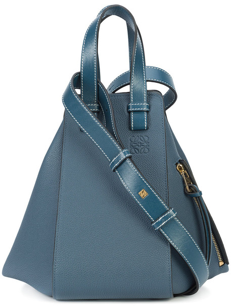 LOEWE women bag leather blue