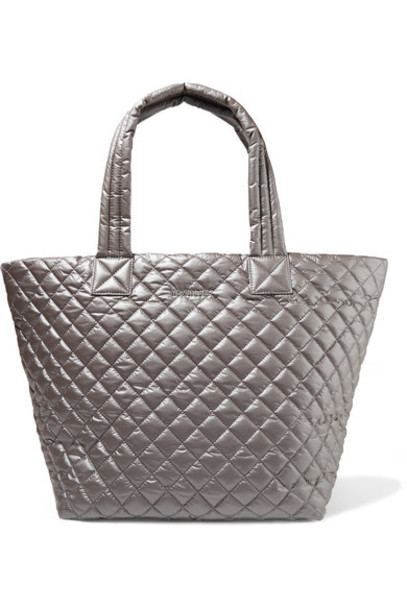 MZ Wallace shell quilted silver bag