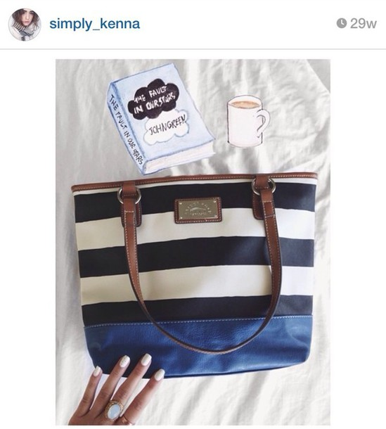 bag stripes tote bag