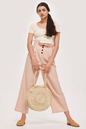 cropped pink pants