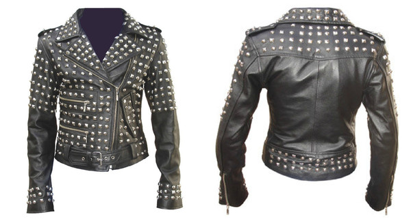 Unisex extreme studded genuine leather jacket – house of troika