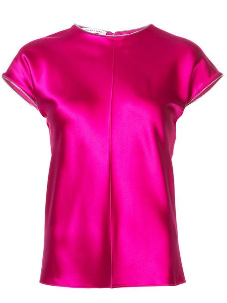 Helmut Lang t-shirt shirt t-shirt women silk purple pink top