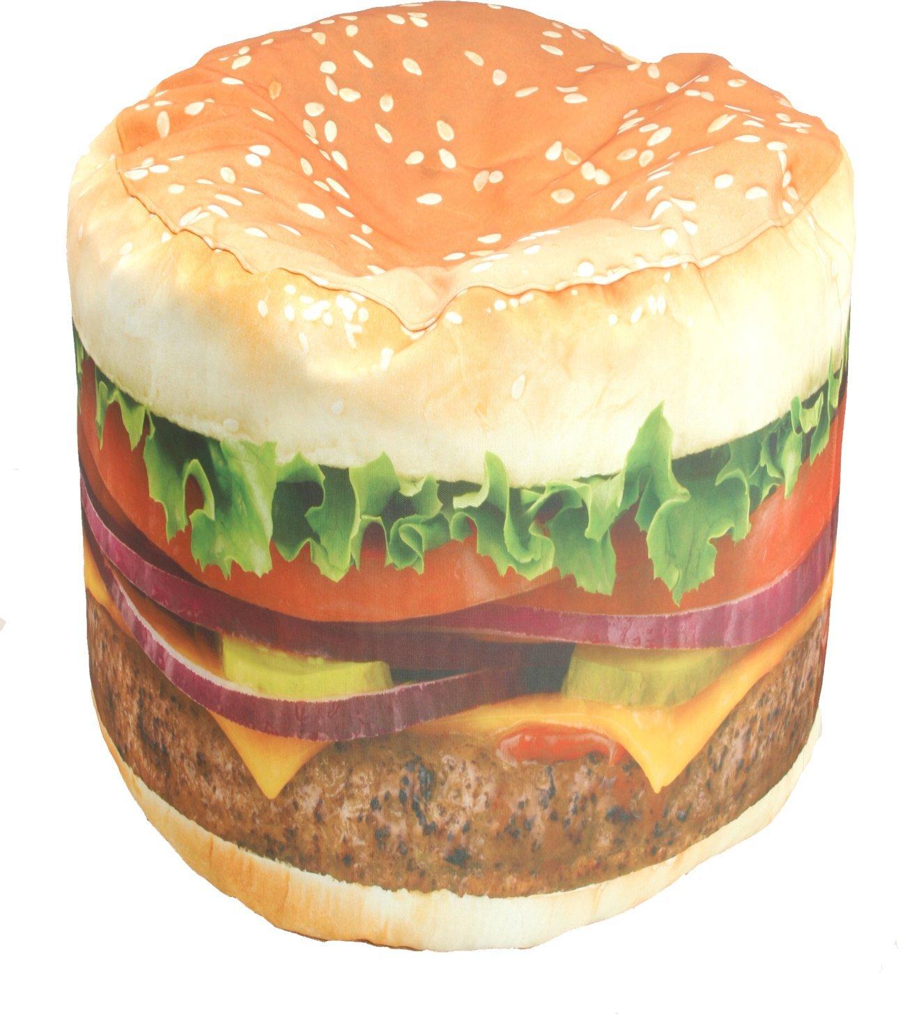 Wow Works Hamburger Adult Beanbag Chair A Bean Bag