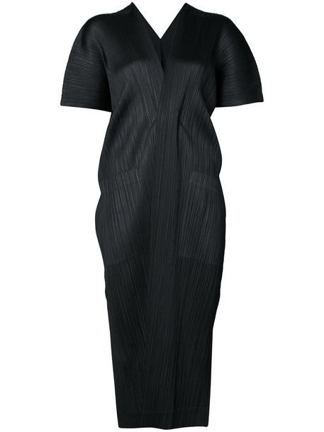 Issey Miyake coat short women black
