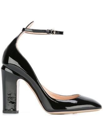 tan pumps black shoes