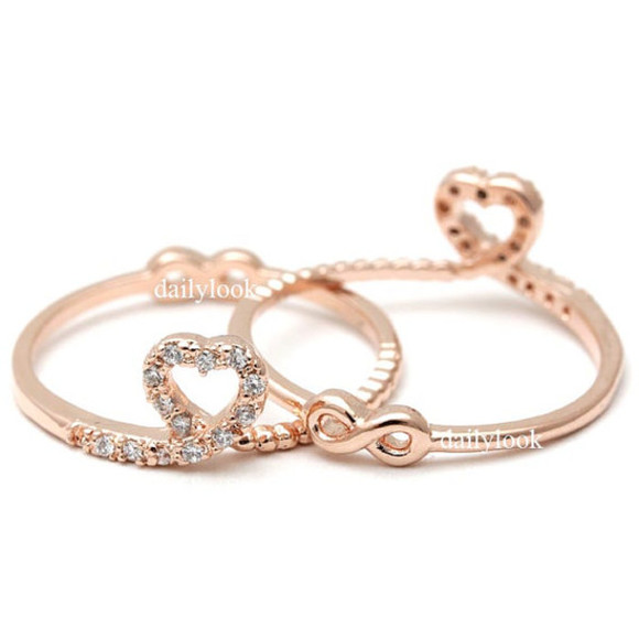 jewels ring infinity ring infinite ring woman ring heart ring heart and infinity birthday gift