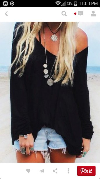 cardigan shirt wholeoutfit jewels top jumper black top knitted sweater