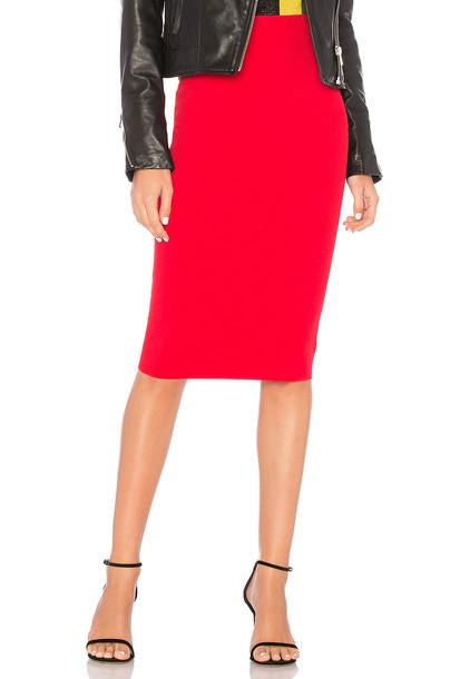 Diane Von Furstenberg skirt pencil skirt knit red