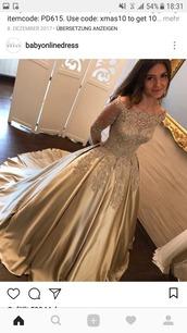 dress,long,long dress,glitter,majestic,gold,longarmed dress,glamour,long sleeves