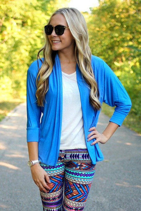Fall In Cardigan - Light Blue on Wanelo