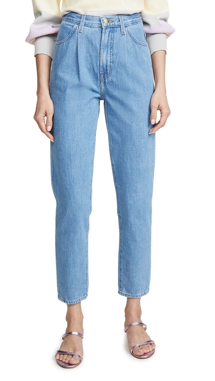 J Brand Pleat Front Peg Jeans