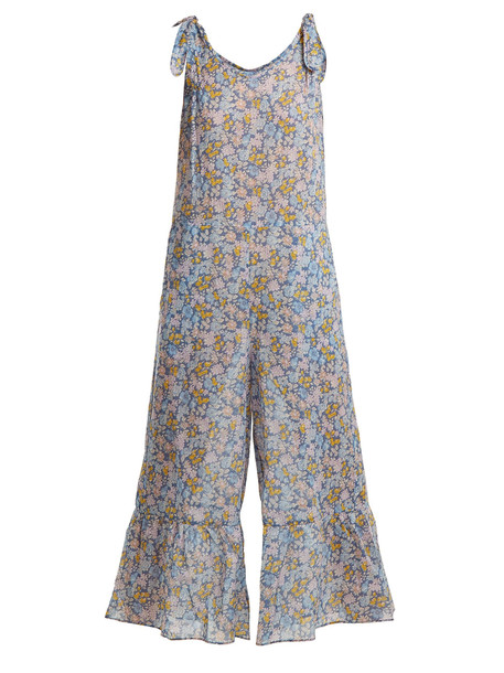 M.I.H JEANS Treelove floral-print cotton jumpsuit in multi