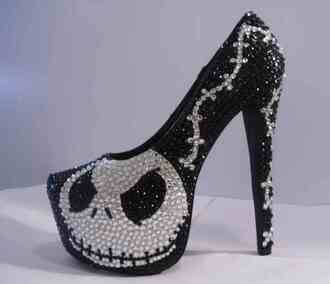 shoes halloween black white glitter shoes glitter high heels cartoon movies