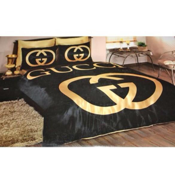 Home Accessory Bedding Bedding Black Gucci Gold