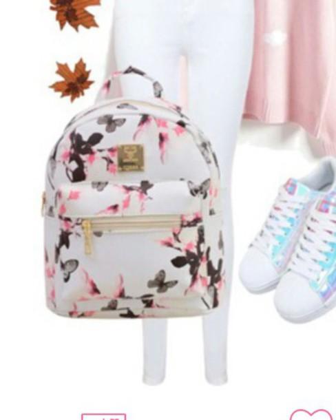 bag backpack floral backpack