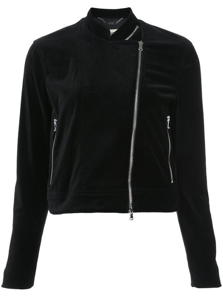 L'Agence jacket zip women spandex cotton black