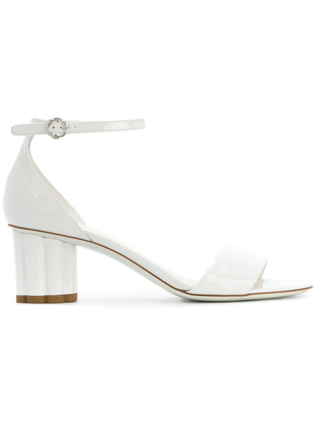 ankle strap women sandals leather white shoes