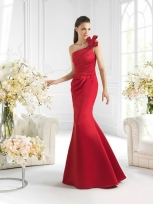 Buy Fascinating Red Mermaid/Trumpet One-shoulder Sweep Train Prom Dress  under 200-SinoAnt.com