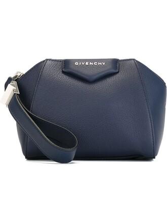 women clutch blue bag