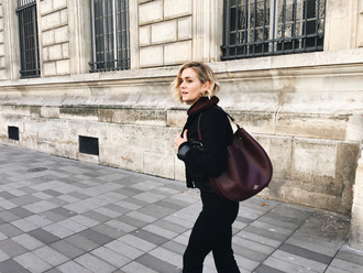 adenorah blogger brown leather bag
