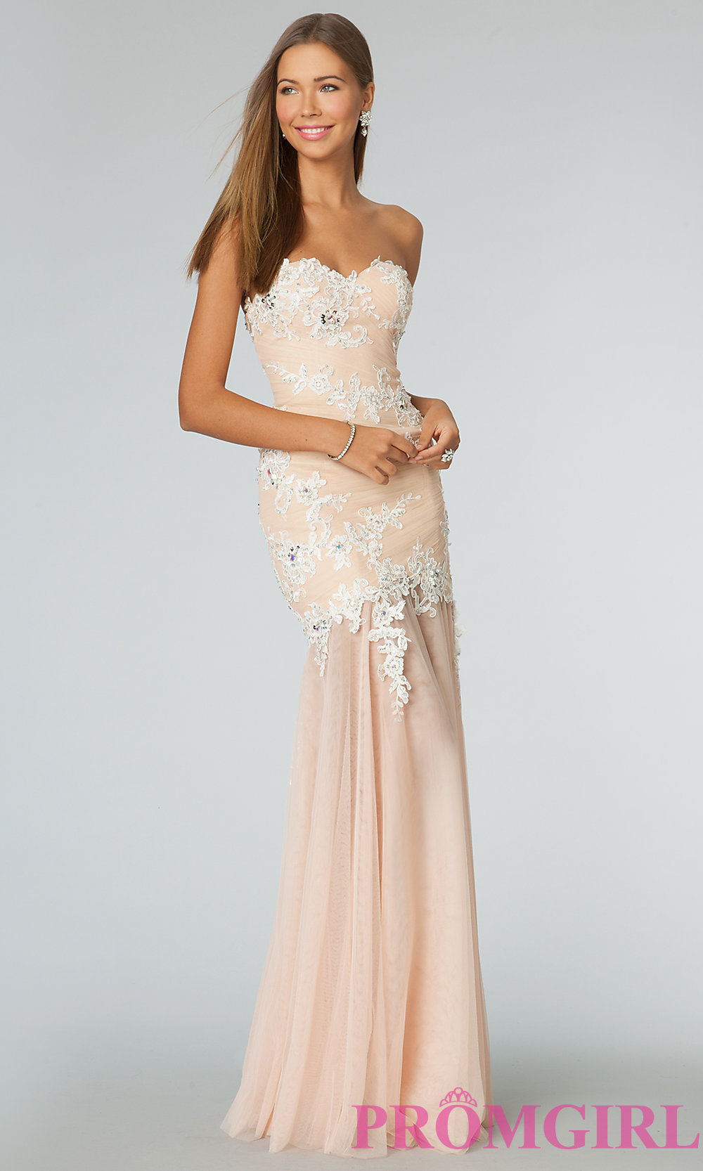 Strapless Long Prom Dress JVN by Jovani