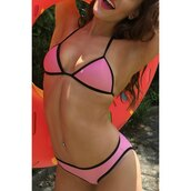 swimwear,pink,bikini,fashion,trendy,hot,sexy,tan,rose wholesale-ap