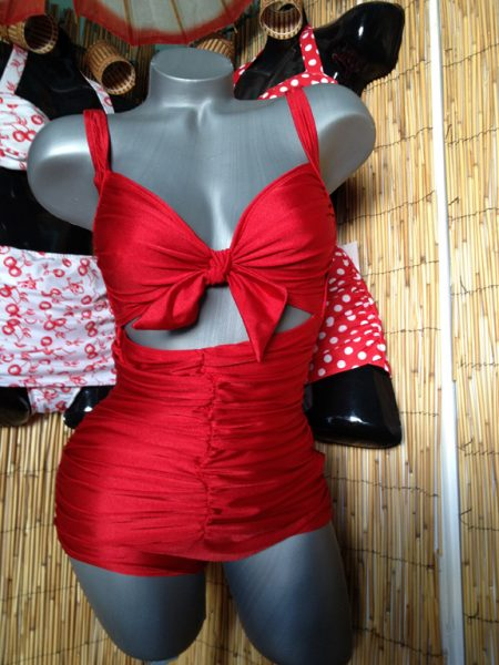 Vintage Suits by Mary - Solid Red Swoon Suit - (Powered by CubeCart)