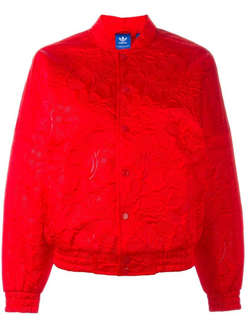 Adidas Originals floral print bomber jacket, Women's, Size ...