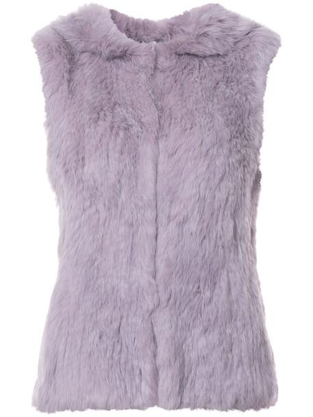 Yves Salomon vest fur vest fur women purple pink jacket