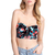 ROMWE | Zippered Black Floral Bandeau, The Latest Street Fashion