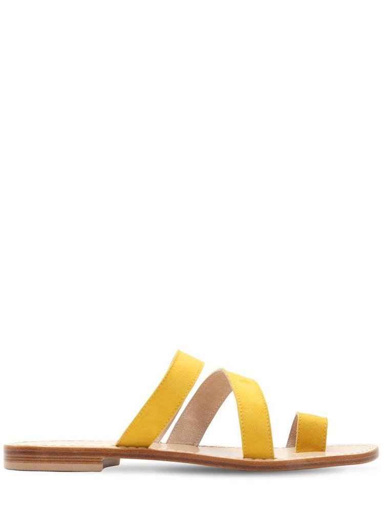 CAPRI POSITANO 10mm Paestum Suede Sandals in yellow