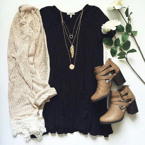 Black and tan dress accessories